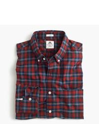 J.Crew Slim Thomas Mason For Flannel Shirt In Red Plaid