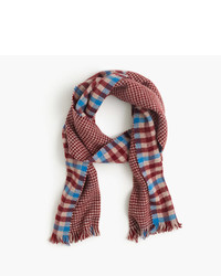 J.Crew Double Faced Plaid And Houndstooth Scarf