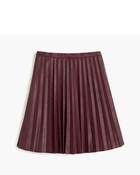 Faux leather pleated mini skirt medium 754173