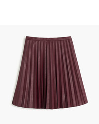 Tall faux leather pleated mini skirt medium 754190