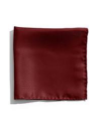 Nordstrom Silk Twill Pocket Square Wine Dark Burgundy One Size