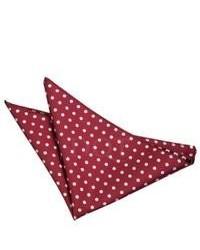 DQT Polka Dot Burgundy Handkerchief Pocket Square