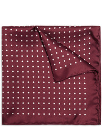 Drakes silk polka dot pocket square medium 31867