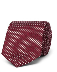 Drakes Drakes 9cm Polka Dot Silk Faille Tie
