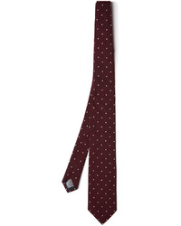 Dunhill Polka Dot Embroidered Silk Tie