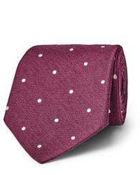 Paul Smith 8cm Polka Dot Silk And Wool Blend Tie