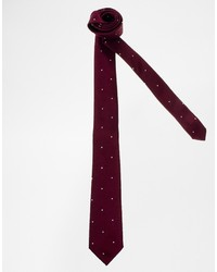 Asos Brand Tie With Polka Dot