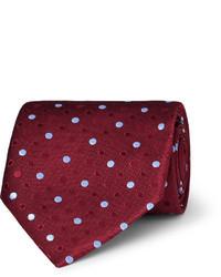 Charvet Polka Dot Silk Tie
