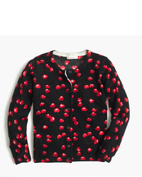 J.Crew Girls Caroline Cardigan Sweater In Cherry Print