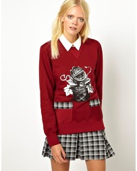 Ostwald Helgason Sweatshirt With Plant Print And Printed Pockets