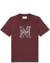 Maison Margiela Slim Fit Printed Cotton Jersey T Shirt