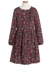 Burberry Girls Alaya Floral Print Cotton Dress