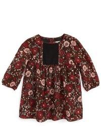 Burberry Mini Flissy Floral Print Long Sleeve Dress