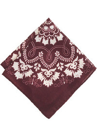 J.Crew Italian Wool Pocket Square In Bandana Print