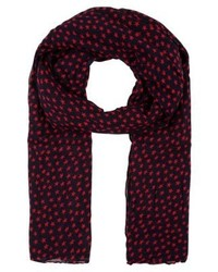 Fine summer scarf redblue medium 4138823