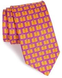 London print silk tie medium 610969