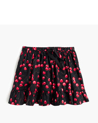 J.Crew Girls Pull On Skirt In Cherry Print