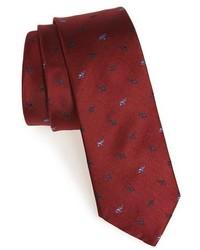 1901 elephant print silk tie medium 316004