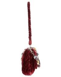 Miu Miu Medium Crystal Embellished Quilted Velvet Shoulder Bag Black ... 635714ce1506e