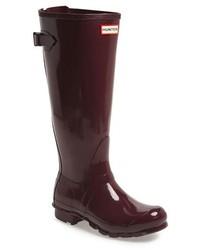 Hunter Adjustable Back Gloss Rain Boot