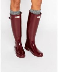 Hunter Original Refined Gloss Dulse Tall Wellington Boots
