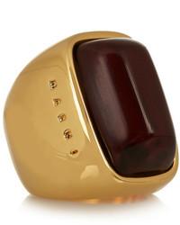 Gold plated horn ring medium 203348