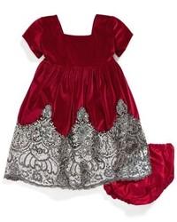 Isabel Garreton Infant Girls Sequin Velvet Dress