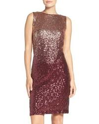 Chetta B Ombre Sequin Sheath Dress
