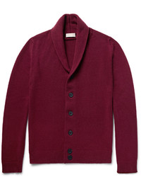 John Smedley Patterson Shawl Collar Merino Wool And Cashmere Blend Cardigan