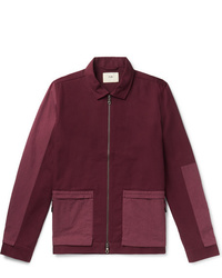 Folk Panelled Cotton Twill Chore Jacket