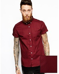 Burgundy Short Sleeve Shirt