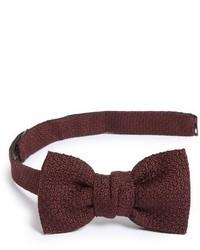 New classic texture knit silk bow tie medium 1161719