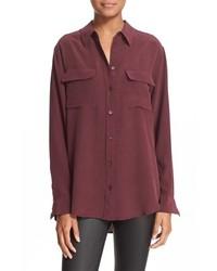 Slim signature silk shirt medium 963697