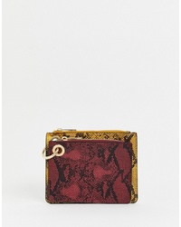 New Look Snake Print Coin Purse In Multicoloured