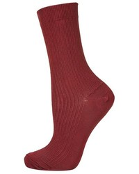 Burgundy Socks