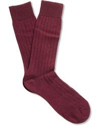 Burgundy Socks