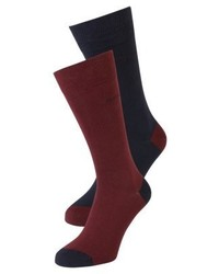 Hugo Boss Heeltoe 2 Pack Socks Dark Red