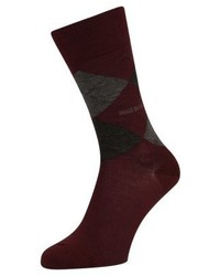 Hugo Boss John Argyle Socks Dark Red