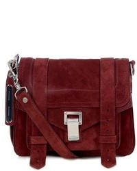 Burgundy Suede Crossbody Bag