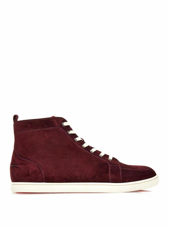 best service 72bfb 54974 £713, Christian Louboutin Rantinos High Top Suede Trainers