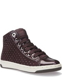 Geox Creamy Studded High Top Sneaker