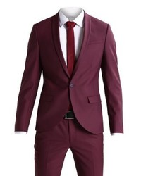 Noose & Monkey Ellroy Suit Burgundy