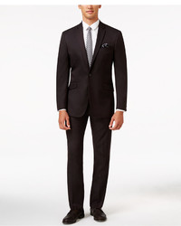 Kenneth Cole Reaction Slim Fit Burgundy Pindot Suit