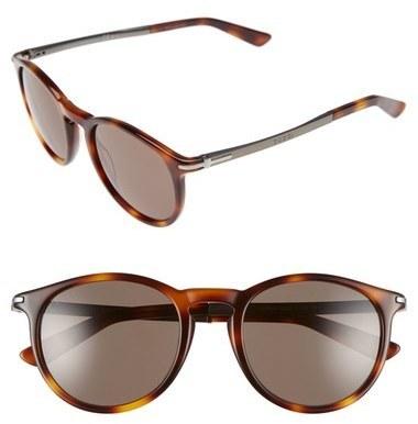 dc0a68c2f8c ... Gucci 51mm Sunglasses Black Ruthenium Brown Grey ...