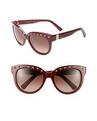 Valentino 54mm Sunglasses Burgundy One Size