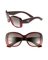 Prada 57mm Oversized Sunglasses Burgundy One Size