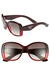Prada 57mm Oversized Sunglasses