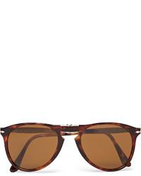 Persol 714 Foldable D Frame Tortoiseshell Acetate Sunglasses