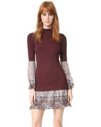 Veronica Beard Sweater Shirt Combo Dress