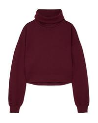 Ninety Percent Cropped Organic Cotton Jersey Sweatshirt